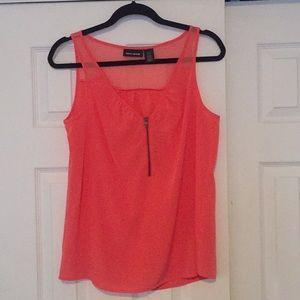 Coral tank blouse